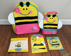 Adorable bumblebee backpack and lunchbox from Stephen Joseph Gifts - Gator Mommy Reviews