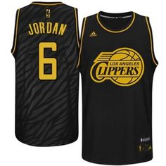 DeAndre Jordan Authentic In Black Adidas NBA Los Angeles Clippers Precious  Metals Fashion  6 Men s 38b347fea3e