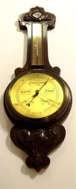 Victorian Oak Barometer - estimate of - in our upcoming auction The Saleroom, Antique Auctions, Clock, Victorian, Antiques, Home Decor, Watch, Homemade Home Decor, Antiquities