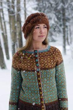Ravelry: Wiolakofta pattern by Kristin Wiola Ødegård Fair Isle Knitting, Hand Knitting, Knitting Patterns, Cardigan Pattern, Jacket Pattern, Punto Fair Isle, Fair Isle Pullover, Nordic Sweater, Fair Isle Pattern