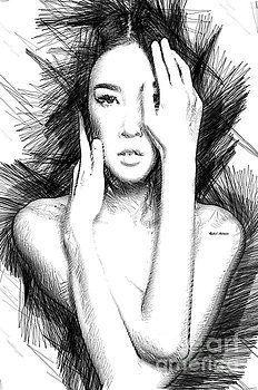 Oriental Figure sketch by Rafael Salazar