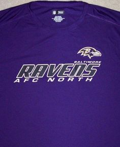 Baltimore RAVENS NFL Football Shirt Adult 2XL Purple Team Apparel AFC Bal Poly #NFLTeamApparel #BaltimoreRavens