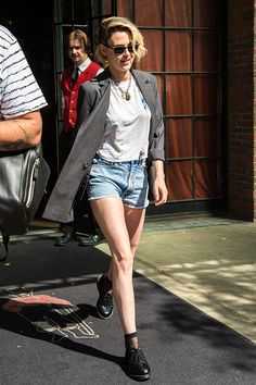 Kristen Stewart is seen leaving her hotel on July 11 2016 in New York New York