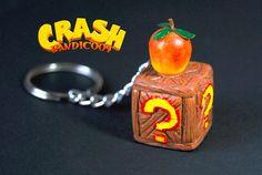 Llavero Crash Bandicoot  Caja Crash Bandicoot  Fruta Wumpa