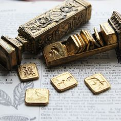 """Wax Seal Necklace """"Faithfulness Guides Me - Cherub and Dog - French Wax Seal…"""