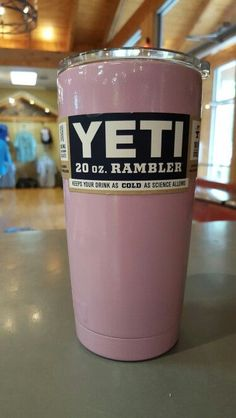 BRAND NEW-> PINK YETI 20oz RAMBLERS PROFESSIONAL POWDER COATED STAINLESS CUP