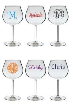 Personalized Acrylic 20 Oz Balloon Wine Gl