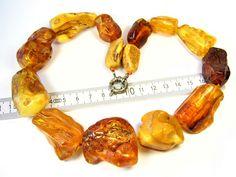 WhiteYellow Natural Baltic Amber Stone 14.4 Gram.