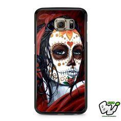 Floral Sugar Skull Samsung Galaxy S6 Case