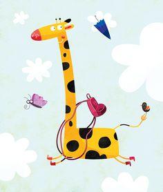 Children's giraffe illustration
