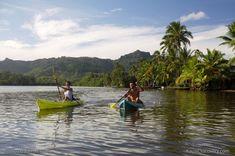 Kayaking the Wailua river on Kauai, Hawaii. #Kauai One of the best things to do on Kauai. Photo by Jon De Mello.