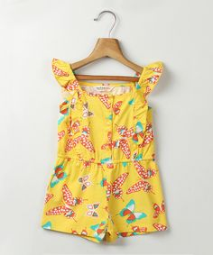 Look at this Yellow Butterfly Romper - Infant & Girls on #zulily today!