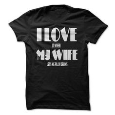 I Love It When My Wife Lets Me Play Drums LIMITED TIME ONLY. ORDER NOW if you like, Item Not Sold Anywhere Else. Amazing for you or gift for your family members and your friends. Thank you! #wife #love