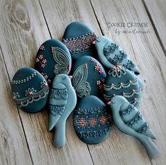 Blue Birds and Eggs by MintLemonade (Cookie Crumbs)