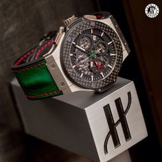 The Hublot Big Bang Aerobang Mexican Scuderia Rodriguez, sporting the colors of the Mexican flag.