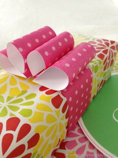 "Customized #diy scrap paper bow! Love this ""package it with a bow"" tutorial @Courtney Baker {a thoughtful place}"