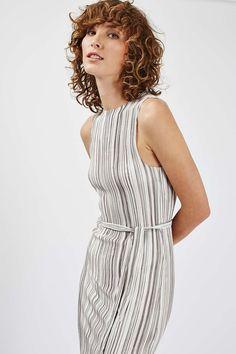 Striped Pleat Tank Dress - Dresses - Clothing - Topshop USA