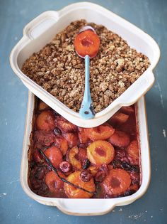 Roasted Stone Fruit Crumble | Jamie Oliver | Family Super Food
