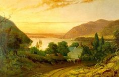 A view of the Hudson River Valley painted by Seth Eastman in 1834. Part of CAROLINE is set here, in an 18th century manor house.