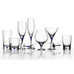 Intermezzo Blue Martini Glass - Erika Lagerbielke - Orrefors - RoyalDesign.com
