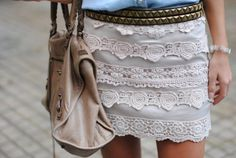 suckker for white lace and studs