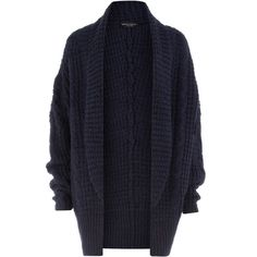 Navy shawl cardigan ($59) ❤ liked on Polyvore