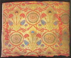 Lampas textile fragment, Ottoman, second half of the 16th c.