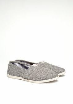Herringbone Tweed Loafers   Flats   rue21