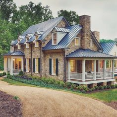 Gorgeous cottage house exterior design exterior style дом мечты, ф Style At Home, Southern Living Homes, Design Living Room, Le Far West, Stone Houses, Stone Cottages, Cottage Homes, Architecture, Exterior Design