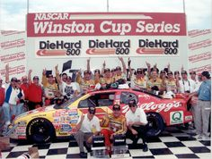 Terry Labonte wins at Talladega in 1997 Nascar Cars, Nascar Racing, Race Cars, Auto Racing, Bobby Labonte, Terry Labonte, Kyle Larson, The Iceman, Racing News