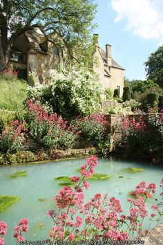 Pond in the gardens of Snowshill Manor