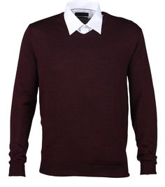 Meccano's Merino V-Neck Sweaters are on sale for $79.00 in colours to suit all Dads!