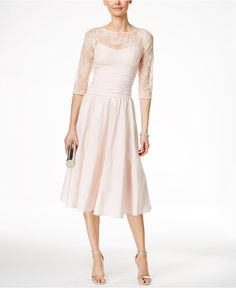 Jessica Howard Three-Quarter-Sleeve A-Line Dress - Dresses - Women - 944df7b16f59