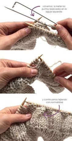 Wool Beanie with fur pom pom - Knitting Pattern & Tutorial - Beanie Knitting Patterns Free, Knitting Paterns, Free Knitting, Crochet Patterns, Start Knitting, Knitting Needles, Wooly Hats, Knitted Hats, Crochet Hats
