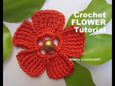 How To Crochet- Flat Simple FLOWER Tutorial