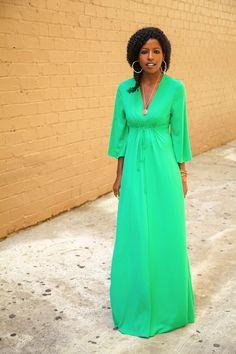 Cinched waist maxi dress-- love