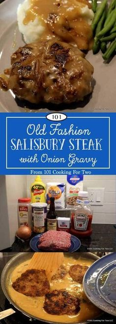 Old fashion Salisbury Steak with Onion Gravy will bring back memories and will become a weeknight favorite. via Old fashion Salisbury Steak with Onion Gravy will bring back memories and will become a weeknight favorite. Steak Marinade Recipes, Sirloin Recipes, Salisbury Steak Recipes, Salsbury Steak Gravy, Good Food, Yummy Food, Tasty, Onion Gravy, Onion Sauce