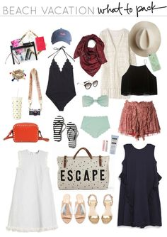 Winter Beach Vacation - What to Pack - Travel