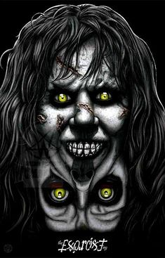 psychoslaughterman: What an excellent Day for an Exorcism and Tomorrow will be an excellent Day to pick up this Exorcist Print where you can get it signed by Pazuzu herself Eileen Dietz. Ill be at Table See you. Halloween Images, Halloween Horror, Chucky, The Exorcist 1973, Dark Artwork, Horror Artwork, Classic Horror Movies, Cinema, Horror Movie Posters