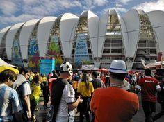 A punto de ingresar por primera vez al estadio Beira Río para #Francia y #Honduras.