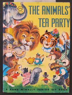 ''The Animals' Tea Party'' Rand McNally Jr Elf, by Helen Wing, 1965 | eBay