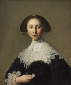 ab. 1635 Jan Miense Molenaer, ascribed to - Portrait of a Young Lady