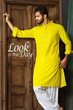 yellow kurta men - Google Search