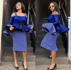 Mesmerising, Trendy and Stylish Ankara Skirt and Blouse Styles for Pretty Ladies.Mesmerising, Trendy and Stylish Ankara Skirt and Blouse Styles for Pretty Ladies Latest African Fashion Dresses, African Fashion Designers, African Print Dresses, African Print Fashion, Africa Fashion, African Dress, African Prints, Ankara Fashion, African Attire