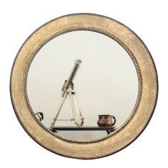 Espelho Decorativo Clássico Redondo Prata Envelhecido 100x100cm - Decore Pronto