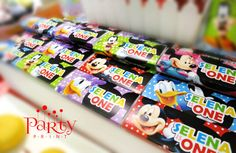Print-It-Yourself (Digital Copy) Mickey Mouse Clubhouse Inspired - Candy Wrapper & Drinks Label**No physical item will be shipped Mickey Mouse Clubhouse Birthday Party, Mickey Mouse Parties, 3rd Birthday Parties, 2nd Birthday, Mickey Printables, Mickey Mouse House, First Birthdays, Party Themes, Party Ideas
