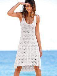 From surfside to poolside | Crochet Cover-up Dress | Beachwear for Women