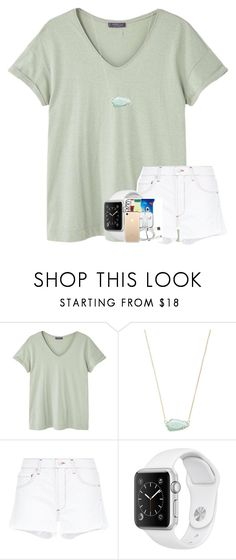 """""""500 FOLLOWERS :)"""" by hhaileyyyy ❤ liked on Polyvore featuring MANGO, Kendra Scott and AGOLDE"""