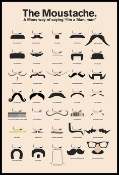 A poster for Pyramid International. Something to get you thinking about what to wear for #Movember? #guyfawkes #moustache #mario #wario #dali #barcode #frankzappa #pringles #wario #chaplin #facialhair