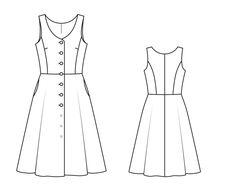 Платье с пышной юбкой - выкройка № 123 из журнала 9/2014 Burda – выкройки платьев на Burdastyle.ru